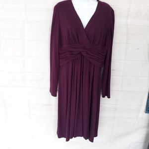 Adrianna Papell Twist Front Knit Dress Size 16